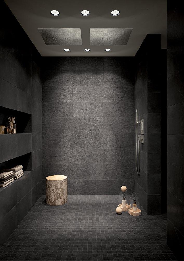Fap ceramiche maku criver ceramiche - Piastrelle nere per bagno ...
