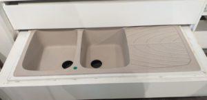 Lavello LG 2 vasche + gocciolatoio - Avena