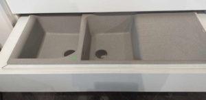 Lavello LG 2 vasche + gocciolatoio - beige
